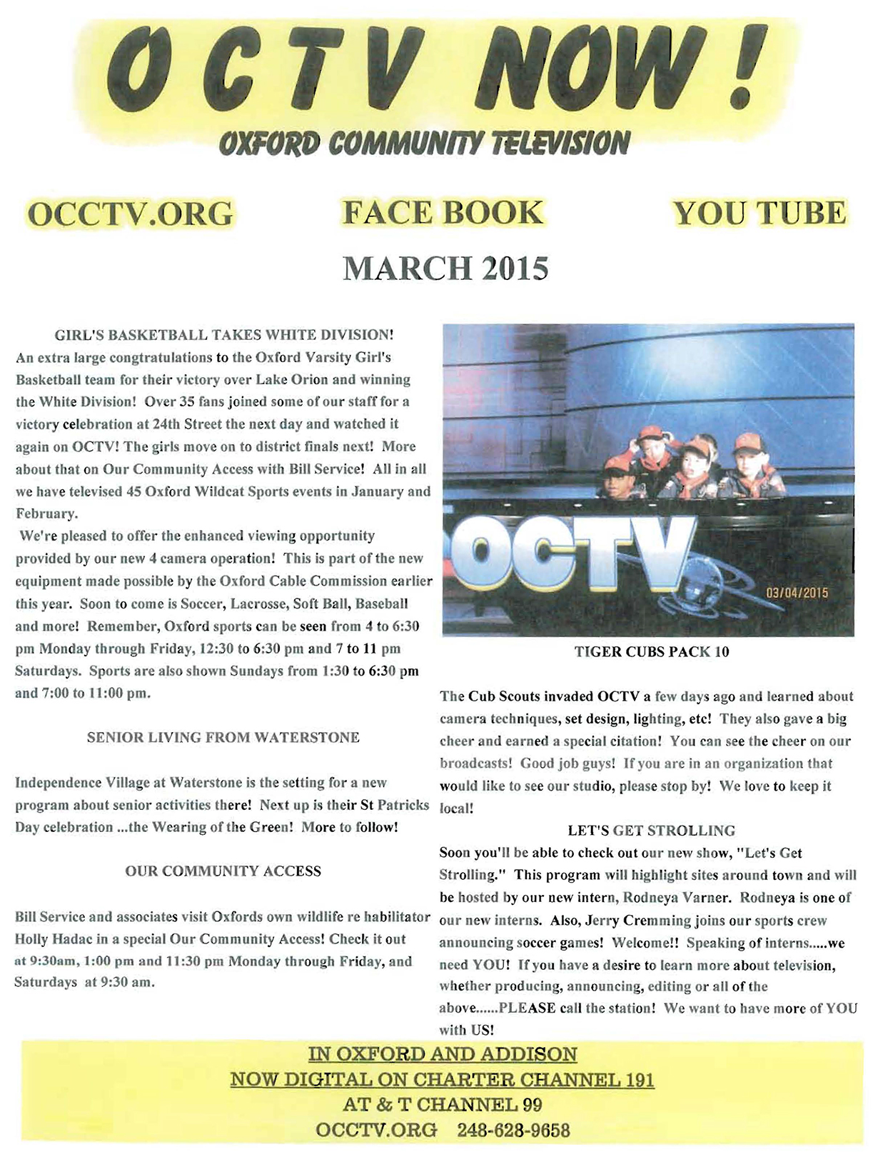 OCTV Newsletter March 2015